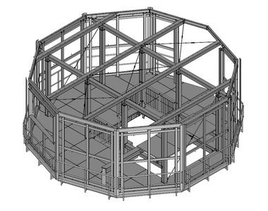 12-2018 Podestkonstruktion Treppenturm für Wasserrutsche, fvz