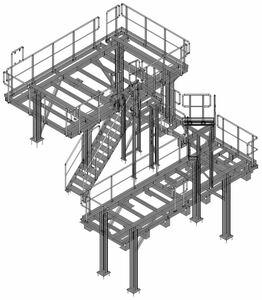Stahlbühne für eine Wasseraufbereitungsanlage
