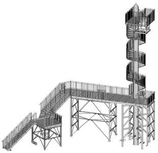 3D-CAD-Werkplanung Treppenturm