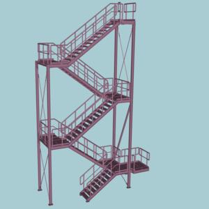Treppenturm für Kühlturmanlage