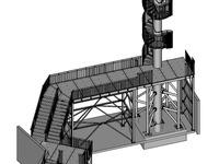 05-2019 Startpodest mit Spindeltreppenturm Stahl verzinkt, Tränenblechstufen